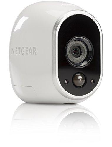 Netgear Arlo VMC3030-100EUS Smart Home Zusatz-HD-Security-Überwachung Kamera (100% Kabellos, Indoor/Outdoor, Bewegungssensor, Nachtsicht) Weiß